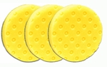3 Pack - Yellow Cutting CCS Smart Pads� DA 5.5 inch Foam Pads