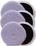 6 Pack Foamed Wool 6.5 x 1 Inch Polishing &Buffing Pads