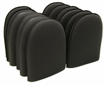 Black Fine Flex Foam Finger Pockets - 12 Pack