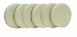 CCS 6.5 inch White Polishing Pad 6 Pack