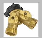 Dual Brass Connector Shut Off Valve