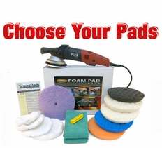FLEX XC3401 VRG Dual Action 7.5 inch Curved Edge Pad Kit - Choose Your Pads! <br><font color=red>FREE BONUS</font>