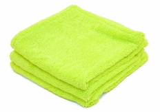 Super Soft Deluxe Green Microfiber Towels with Rolled Edges, 3 Pack