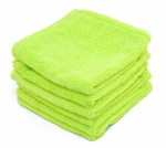 Super Soft Deluxe Green Microfiber Towels with Rolled Edges, 6 Pack