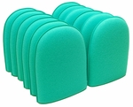 Green Medium Flex Foam Finger Pockets - 12 Pack