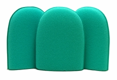 Green Medium Flex Foam Finger Pockets - 3 Pack