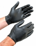 XX Large Black Nitrile Gloves, Box of 100