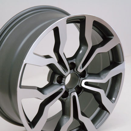 """18"""" Fits Audi R8 Replica Wheels - Gunmetal With Machined Face 18x8 SET"""