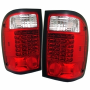 2001-2005 Ford Ranger LED Red Clear Tail Lights