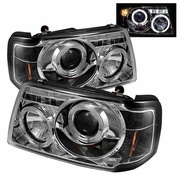 2001-2008 Ford Ranger <h>Halo LED Chrome Projector Headlights</h>