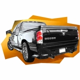 2002-2008 Dodge Ram Truck Pirana Style Rear Bumper ONLY