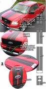 2004-2008 Ford F-150 Rally Stripes Graphics Kit 5