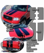 2004-2012 Ford F-150 Rally Stripes Graphics Kit 1
