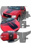 2004-2012 Ford F-150 Rally Stripes Graphics Kit 2