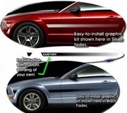 2005-2009 Ford Mustang Body Side Stripe Graphic Kit 12