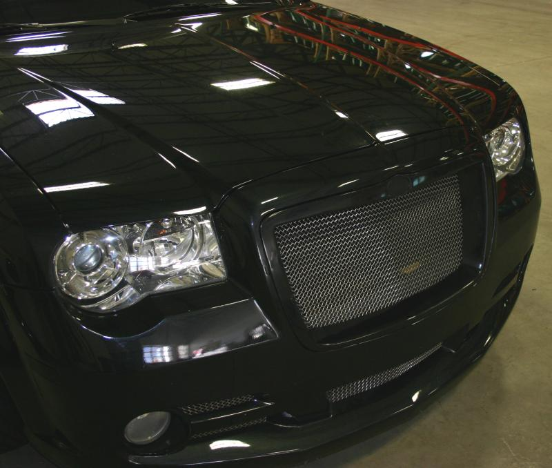 Black 2005 2006 2007 2008 2009 2010 Chrysler 300c: 2005-2010 Chrysler 300 300C Deep Dish Front Grille