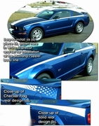 2005-2010 Ford Mustang Body Side Graphic Kit 6