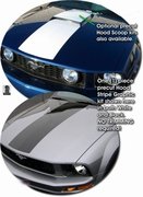 2005-2010 Ford Mustang Hood Stripe Graphic Kit 5