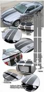 2005-2010 Ford Mustang Rally Stripe Graphic Kit 2