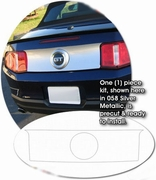 2005-2012 Ford Mustang Rear Decklid Black-Out Graphics Kit 1