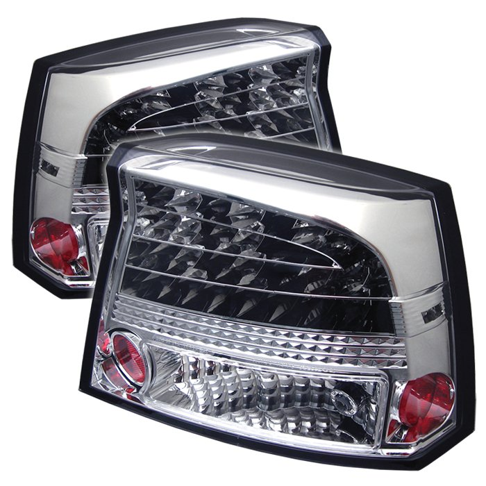 2006 2008 dodge charger led chrome tail lights. Black Bedroom Furniture Sets. Home Design Ideas