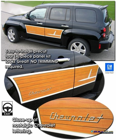 2006-2010 Chevrolet HHR Wood Grain Graphic Panel Kit 1