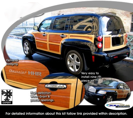 2006-2011 Chevrolet HHR Wood Panel Graphics Kit 1