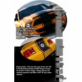 2007-2009 Ford Mustang GT500 Super Snake Rally Stripe Graphic Kit 1