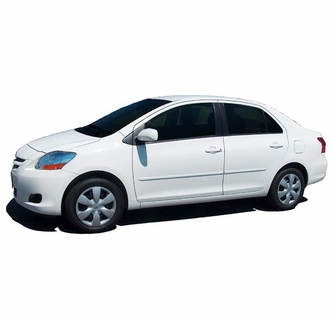 2007-2010 Toyota Yaris Sedan 4Dr Painted Body Side Moldings