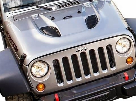 "2007-2015 Jeep Wrangler 10th Anniversary Rubicon ""Power Dome"" Hood"