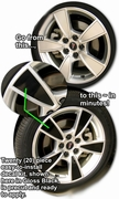 "2008 2009 Pontiac G8 18"" Factory Wheel Graphic Kit 1"