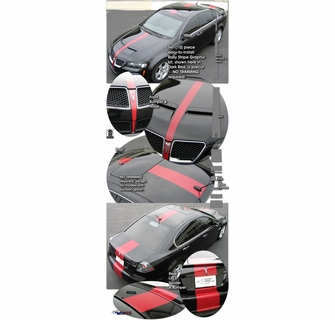2008 2009 Pontiac G8 Center Stripe Rally Graphic Kit