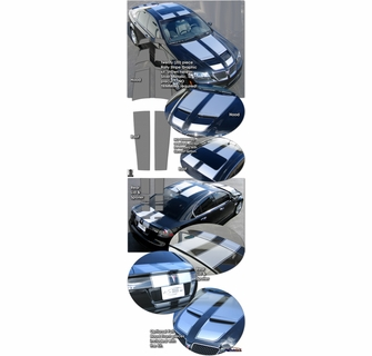 2008 2009 Pontiac G8 Rally Stripes Graphics Kit 1