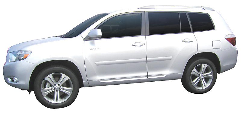 2008 2010 Toyota Highlander Painted Body Side Moldings