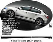 2008-2015 Chevrolet Cruze Body Side Graphics Kit 1