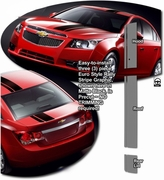 2008-2015 Chevrolet Cruze Euro Style Rally Stripe Graphics Kit 1