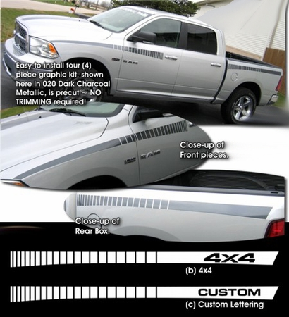 Dodge Ram Truck Body Side Graphics Kit 3 2009-2014