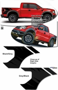 2009-2013 Ford F-150 and F150 Raptor Body Side Graphic Kit 2