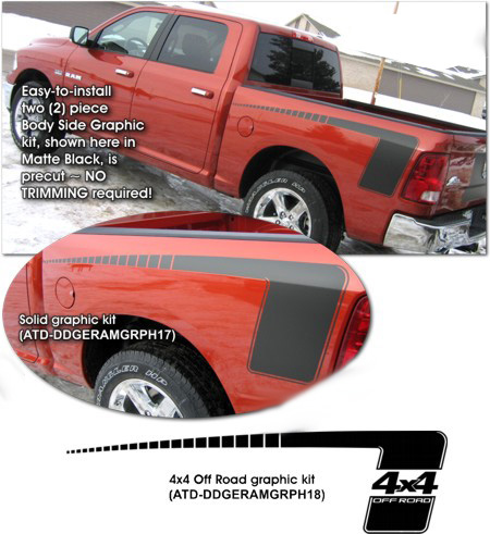 Dodge Ram Hock Stick Graphics Kit 2009 2015 Atd Ddgeramgrph17