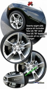 "2010-2013 Chevrolet Camaro Faded Wheels Graphic Kit 20"" Factory Wheel"