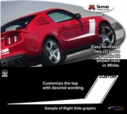 2010-2012 Ford Mustang Hockey Stick Body Side Graphics Kit 16