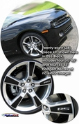 "2010-2013 Chevrolet Camaro Solid Wheel Graphics Kit 20"" Factory Wheels"