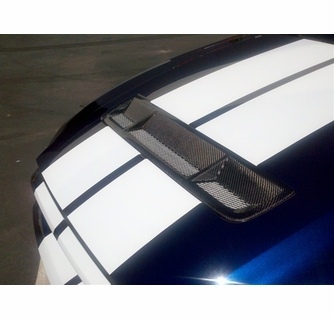 2010-2012 Ford Mustang GT500 Carbon Fiber Grille Insert (OEM Style)