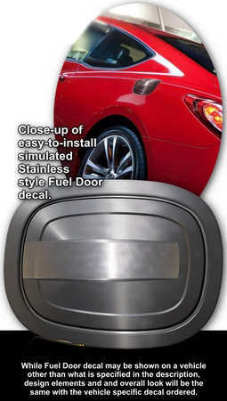 2010-2012 Hyundai Genesis Coupe Simulated Billet Style Fuel Door Decal 1