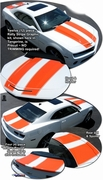 2010-2013 Chevrolet Camaro Bumblebee Style Rally Stripe Graphic Kit 7