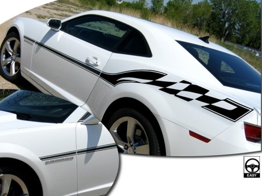 2010-2013 Chevrolet Camaro Instigator Side Body Graphics Kit 1