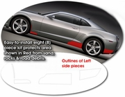 2010-2013 Chevrolet Camaro InvisiGARD Wheel Well Stone Guard Kit