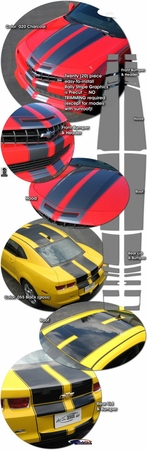 2010-2013 Chevrolet Camaro Rally Stripes Graphics Kit 4
