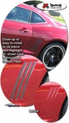 2010-2014 Chevrolet Camaro Solid Side Vent Highlight Decal Kit