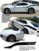 2010-2013 Chevrolet Camaro Yenko Style Side Graphics Kit 2